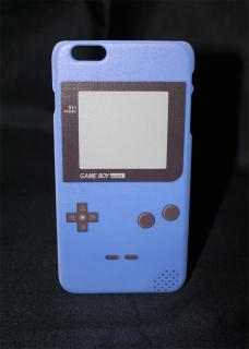 Coque rigide pour iPhone 6 PLUS Game boy Bleu a clipper sur le téléphone mobile.