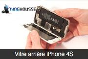 Reparation de la vitre arrière iPhone 4S.