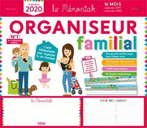 Calendrier 2019 - 2020 - Organisteur Mémoniak.