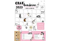 Calendrier mensuel mural 2020 chats.